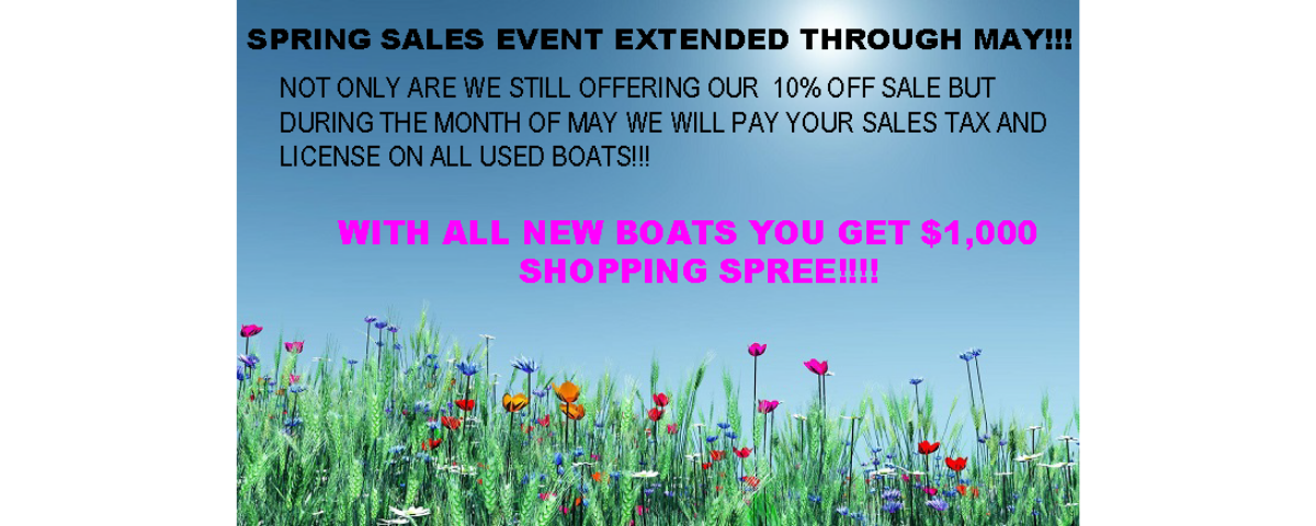 Spring sales event extended!